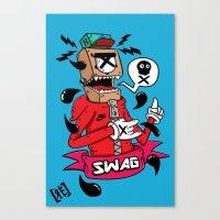 swag Canvas Prints featuring SWAG by reda el mraki