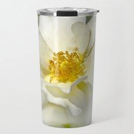 A white bloom. Travel Mug
