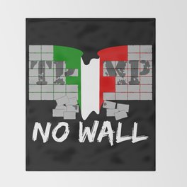 No wall TRUMP Throw Blanket