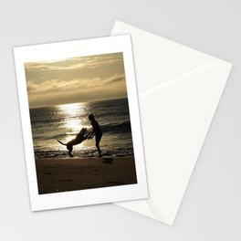 Sunrise with the most loyal friend Stationery Cards