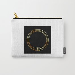 The symbol of Ouroboros snake in gold colors Carry-All Pouch