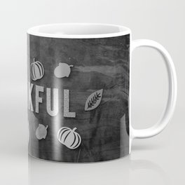Thankful (Black and White) Coffee Mug