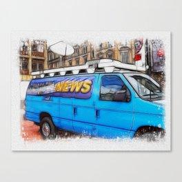 News Hound Canvas Print