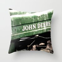 john green Throw Pillows featuring John Deere by Captive Images Photography