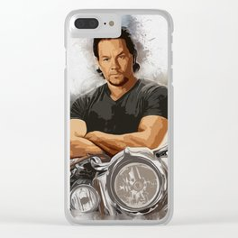 Mark Wahlberg Portrait Clear iPhone Case