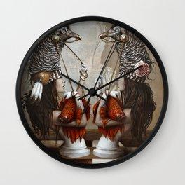 Les Cavalières Blanches Wall Clock