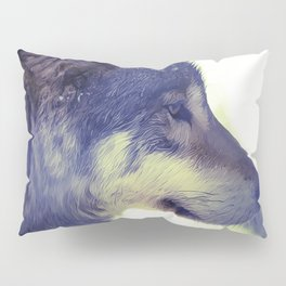 Oil Painting wolf Pillow Sham