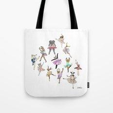 Animal Ballerinas Tote Bag