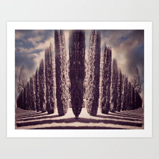Diagonal Thoughts Art Print