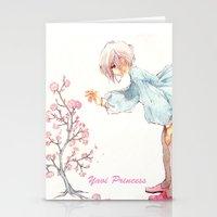 yaoi Stationery Cards featuring Yaoi Princess Sakura by SpaceMonolith