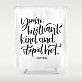Leslie Knope Affirmation Shower Curtain