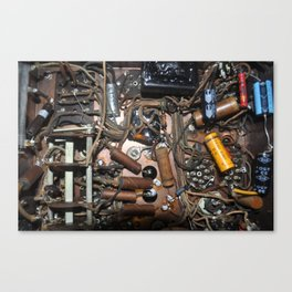 c1940's Stromberg-Carson Tube Radio Chassis Under Belly Canvas Print