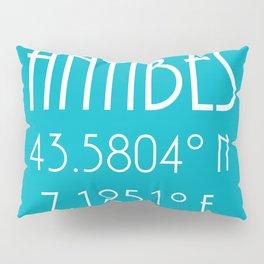 Antibes Latitude Longitude Pillow Sham
