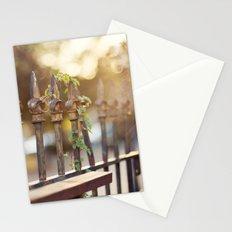 Bokeh and Fleur de Lis Stationery Cards