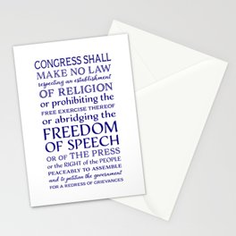 Defend Your Freedom of Speech Stationery Cards