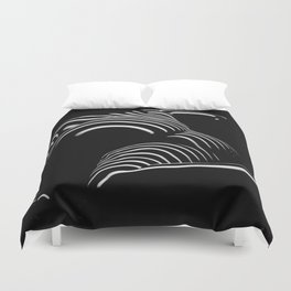 0758-AR BW Abstract Art Nude Striped Duvet Cover