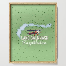Lake Balkhash Kazakhstan Serving Tray