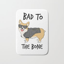 Bad to the Bone Corgi Bath Mat