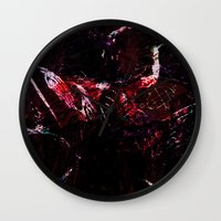 dark souls Wall Clocks featuring SOULS by La Belle Noire