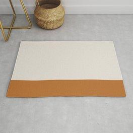 Boho Golden Orange & Neutral Color Block Rug