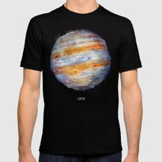 Jupiter Mens Fitted Tee Black LARGE