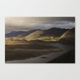 Clouds, Land, Water Canvas Print