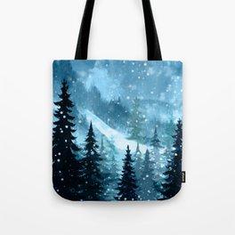 Winter Night Tote Bag