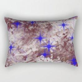 Texture Art - Stars and Bubbles Rectangular Pillow
