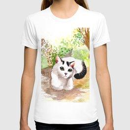 Cat in Garden T-shirt