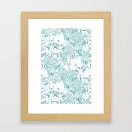 just goats teal Framed Art Print