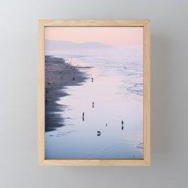 Pink Sunset at Ocean Beach Framed Mini Art Print