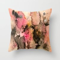 funky Throw Pillows featuring Funky by Emily Kenney