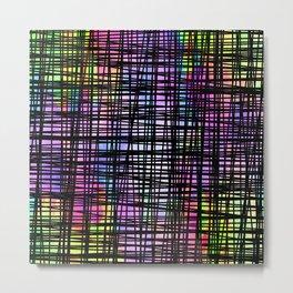 Colorful striped DP035-5 Metal Print