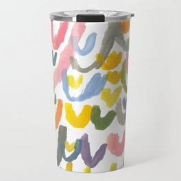 Abstract Letterforms 1 Travel Mug