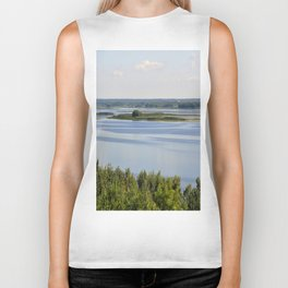 Landscape on the river # 3 Biker Tank