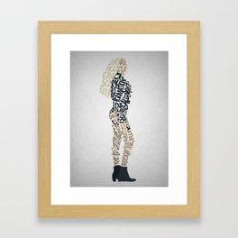 written lemonade Framed Art Print