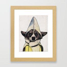Banana Dog Framed Art Print