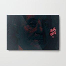 Benjamin Dark (green-pink) Metal Print