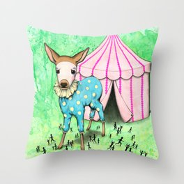 Escape the Big Top Throw Pillow
