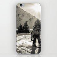 ski iPhone & iPod Skins featuring ski by Sébastien BOUVIER