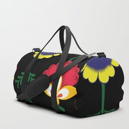 Colorful Ethnic Folk Flowers Duffle Bag