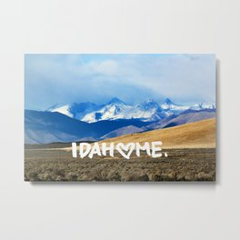 Idahome Love: Pioneer Mountains Metal Print