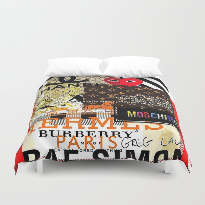 Fashion collage Duvet Cover