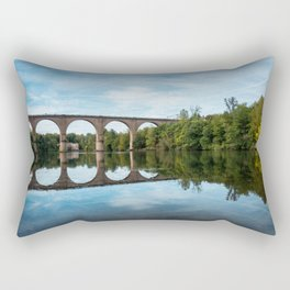 The River Tarn in Albi France. Rectangular Pillow