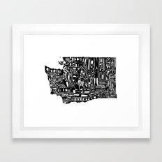 Typographic Washington Framed Art Print