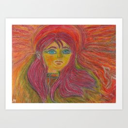 Brigit, The sun Maid Art Print