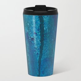 Blue spheres and tears VI right side  Travel Mug
