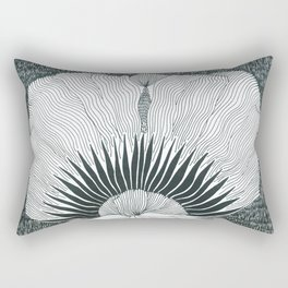 Flower In The Night Rectangular Pillow