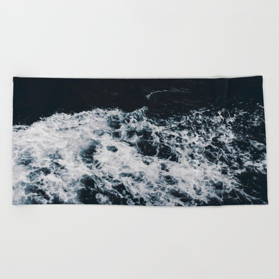 Waves #dark Beach Towel