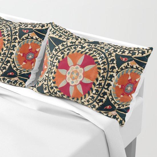 Katti Kurgan Suzani Uzbekistan Embroidery Print by vickybragomitchell